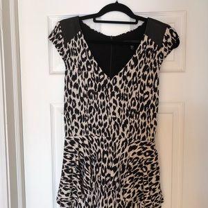 One tier print dress